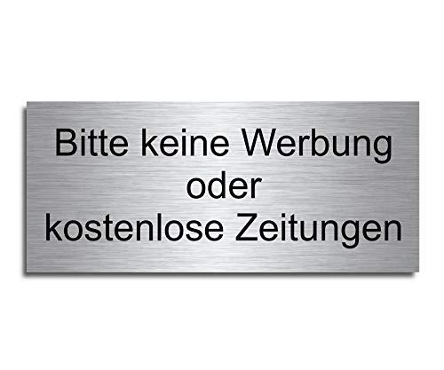 Echtes Edelstahl Türschild Briefkasten-Schild | Größe: 8x3,5 cm