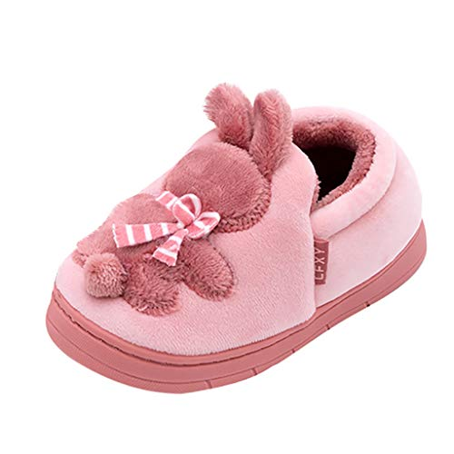 Oldlover✚Cute Home Shoes, Baby Girls Boys Women Men Fur Lined Indoor House Slipper Pig Bunny Warm Winter Home Slippers