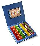 Caja golosinas Facebook 23x23cm con mensaje THANK YOU, su interior contiene 750g de golosinas Rainbow