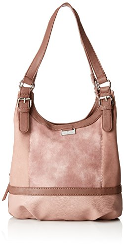 TOM TAILOR Shopper Damen, Juna, , Rot (Rose), 14x29x31 cm, TOM TAILOR Schultertasche, Handtaschen Damen
