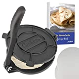 8 Inch Cast Iron Tortilla Press by StarBlue with FREE 100 Pieces Oil Paper and Recipes e-book - Tool...
