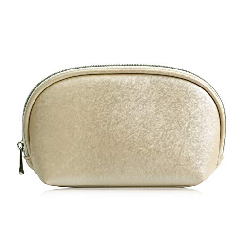 Cosmetic storage bag, portable zipper bag, toiletry bag, makeup tool, suitable for travel and use-Champagne