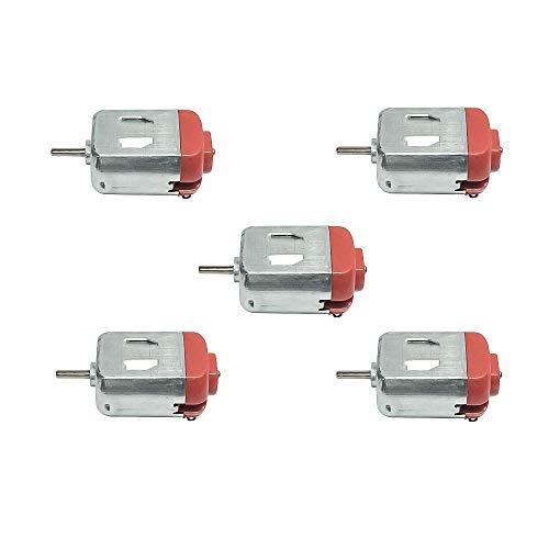 5 Stücke / 10 Stücke DC 1.5V~6V Kleine Motor Mini Elektromotor Ultra High Speed 12000 RPM für Elektrische Spielzeug Wissenschaft Experimente (Rot, 5 PCS)