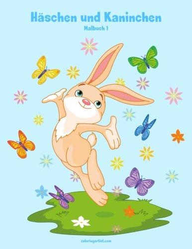 Malbuch mit Häschen und Kaninchen 1
