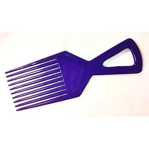 Afro Peigne Démêler Brosse De Cheveux Couleurs Rouge Orange Bleu Jaune - Bleu