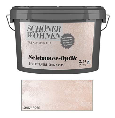 Schöner Wohnen 2,5 L. Schimmer-Optik Effektfarbe, perlmuttartiger Schimmer - Shiny Rose