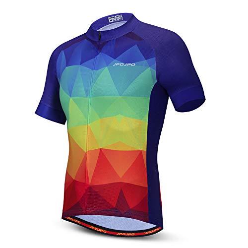 Cycling Jersey Men Bike Short Sleeve with 3 Rear Pockets Summer,Quick Dry Shirt S-3XL