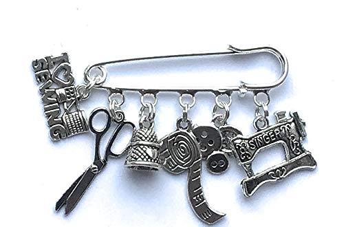 I love sewing charm pin