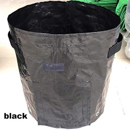 Pflanzen wachsen Taschen, Kartoffelpflanze wachsen Planter Beutel Pflanz Gemüsebau Tomate Anzuchttöpfe Bag Home Garten-Werkzeug (Color : Black, Size : 3 Gallon)