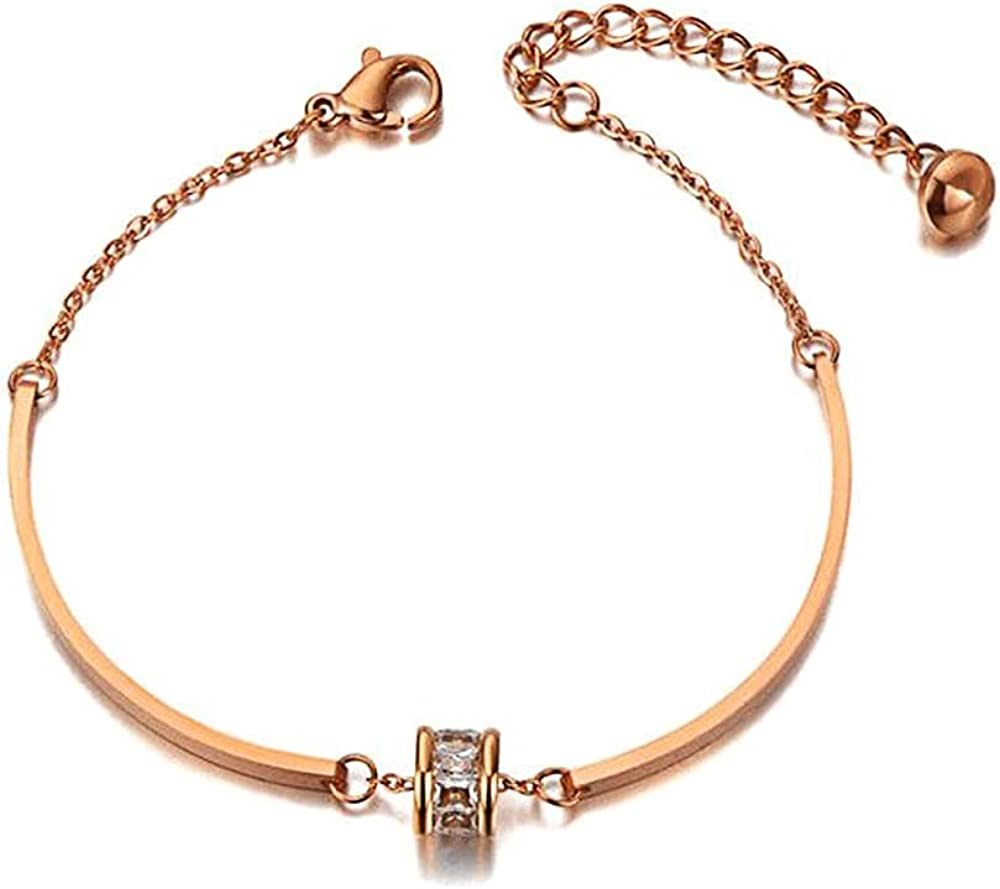Bohemia Chain & Link Bracelet for Women, Rose Gold Color Bracelet, Jewelry Come Gift Box, Women Girls Motivational Birthday