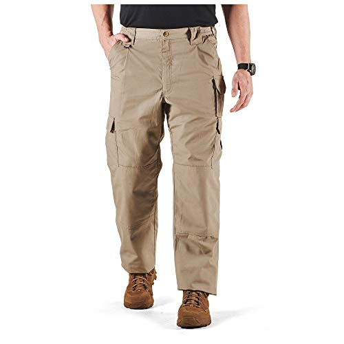 5.11 Tactical Men's Taclite Pro Lightweight Performance Pants, Cargo Pockets, Action Waistband, Stone, 38W x 32L, Style 74273