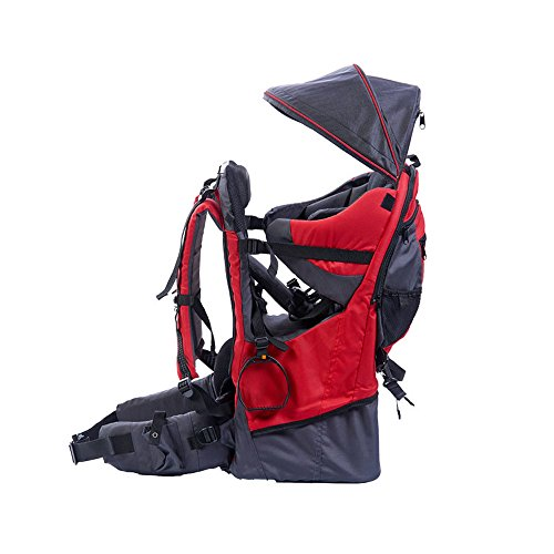 Zaino da escursionismo per portare il bambino, con parapioggia, Red