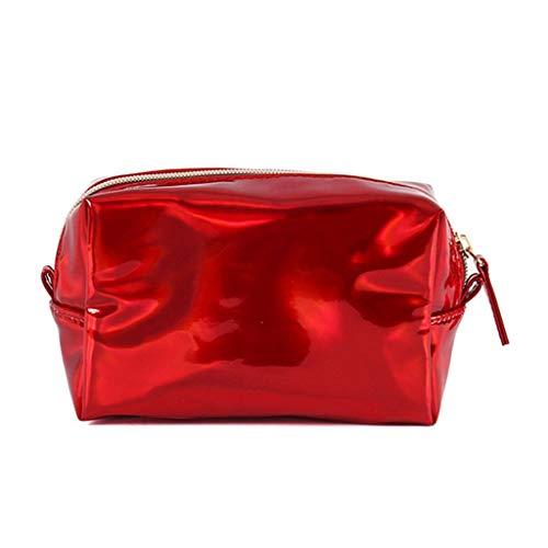 siwetg Hologramm Holographische Bleistift Tasche Mäppchen Handtasche Make-up Case Lagerung