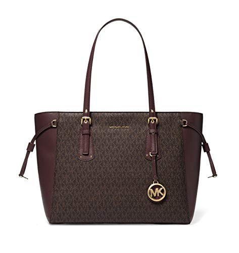 MICHAEL Michael Kors Voyager Medium Multifunction Top-Zip Tote (Brown/Barolo)