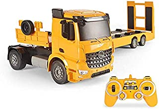 Hmwxbs Remote Control with Dump Truck, 2.4 Ghz Edition, Lorry, Truck, Vehicle Engine Sound, Complete Kit Includes Remote Control Trailer Gift for Boys