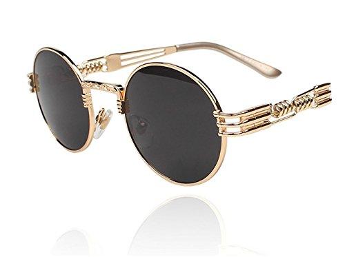 TELAM Telam Retro Gold Reflective Sunglasses Gold Frame Sunglasses