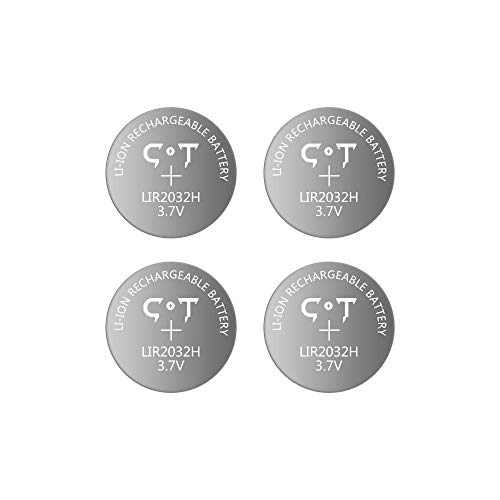 Rechargeable 2032 Batteries 3.7V Lithium Ion Coin Cell Batteries,4pcs High Capacity 70mAh Button Battery,Replace CR2032 3V Batteries4