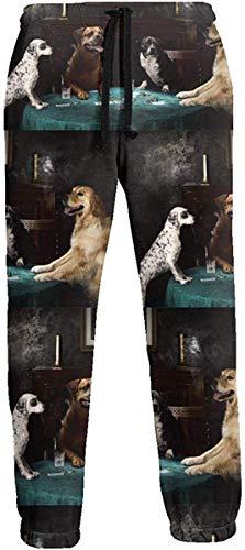 Sunny R Cani Carte da Gioco Pantaloni della Tuta Pantaloni Sportivi da Jogging Pantaloni Sportivi Pantaloni da Corsa per Uomo L