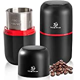 ICEKO-KN Molinillo de Café Eléctrico,150W,120g de Gran Capacidad,Semillas Especias Molino de Cuchillas Acero Inoxidable, Color Negro