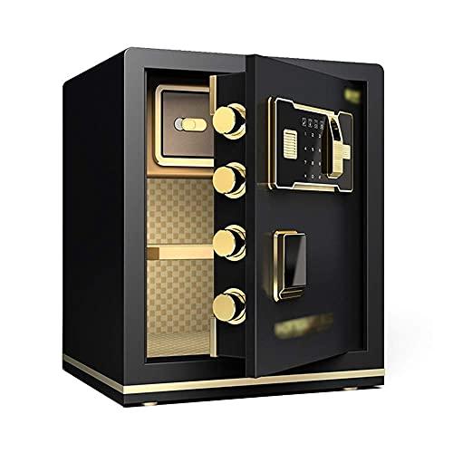 Caja fuerte caja fuerte caja fuerte caja fuerte,huellas dactilares y contraseña /clave Abra simultáneamente con un sistema de alarma inteligente doble Ingrese la pared o el gabinete COFFER DE 45 CM