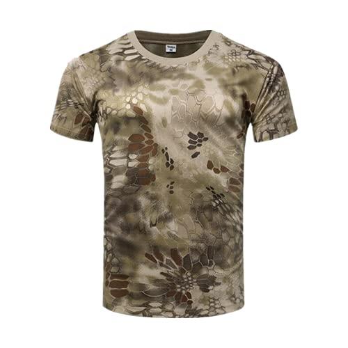 N\P Camisas de camuflaje al aire libre que acampan camisetas tácticas hombres senderismo rápido