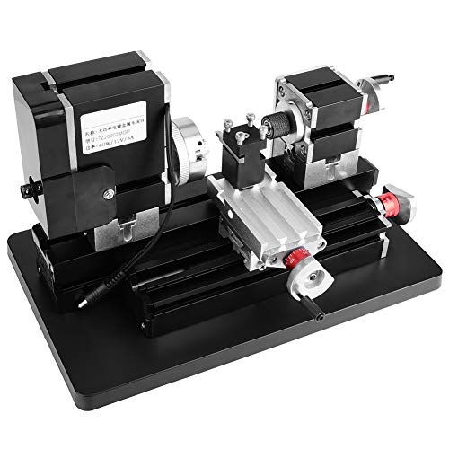 Review Mini Metal Lathe, 60W High Power Mini Metal Lathe Woodworking Machine