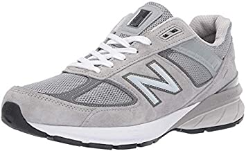 New Balance Men's Made in US 990 V5 Sneaker, Grey/Castlerock, 11 X-Wide