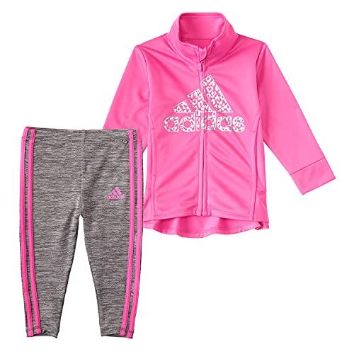 adidas baby girls Jkt &Mel Tight Shorts Set, Pink, 18-24 Months US