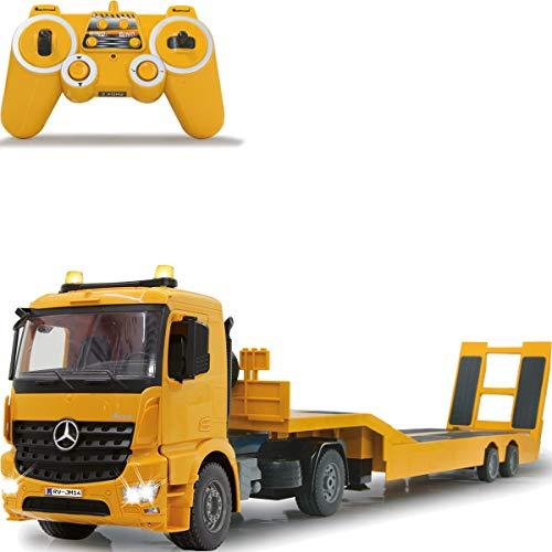 Baustellenfahrzeug ferngesteuert OFFIZIELL LIZENZIERT RC 1:20 (2.4 GHz) Spielzeug Modell Fahrzeug (Mercedes Benz Tieflader Arocs)