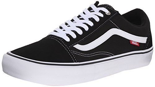 Vans Men's Old Skool Pro Skate Shoe Black/White 10.5 D(M) US