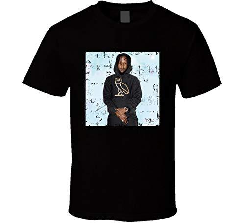 JINLONG Popcaan Unruly Boss OVO T-Shirt Gr. 56, Schwarz