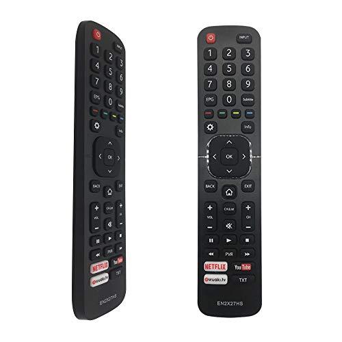 FOXRMT Reemplazo Mando Hisense Smart TV EN2X27HS para Mando Hisense TV - No se Requiere Configuración Mando Universal Hisense Smart TV