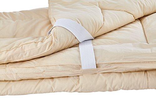 Sleep & Beyond 60 by 80-Inch Organic Merino Wool Mattress Topper, Queen, Ivory