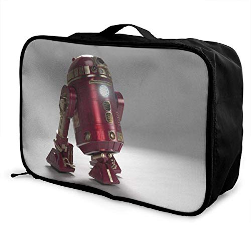 R2 D2 Travel Duffel Bag Storage Packet Folle Waterproof Lightweight Portable High Capacity Tote