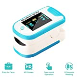 Fingertip Oximeter,Multi-Directional Display, Blood Oxygen Heart Rate, Infrared Measurement, Suitable for Fitess,