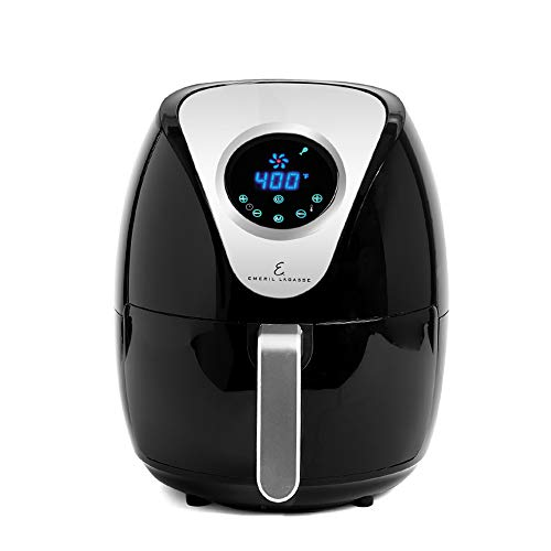 Emeril Lagasse Air Fryer, Special Edition 2021, Extra Hot Air Fry, Cook, Crisp, Broil, Roast, Bake, High Gloss Finish, Black (5 QT)