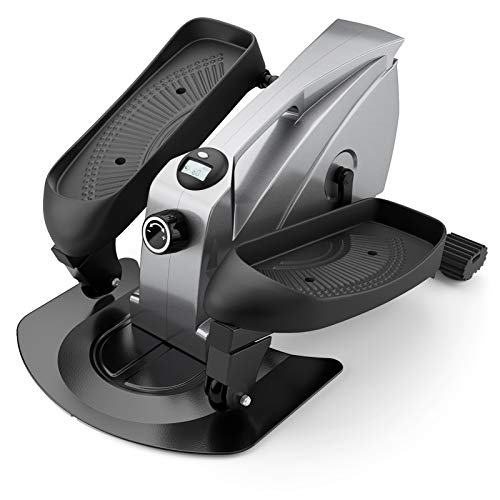 PERLECARE Under Desk Elliptical Portable Elliptical Machine, Desk Bike Pedal Elliptical with Adjustable Resistance & LCD Monitor, Non-Slip Quiet Elliptical Suitable for Gym Office Home - Model PCPE01 from PERLECARE
