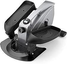 PERLECARE Under Desk Elliptical Portable Elliptical Machine, Desk Bike Pedal Elliptical with Adjustable Resistance & LCD Monitor, Non-Slip Quiet Elliptical Suitable for Gym Office Home - Model PCPE01