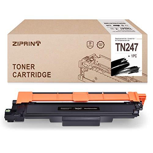 ZIPRINT TN 247 Negro Toner Compatible Brother TN-247 para Brother dcp-l3550cdw HL-L3210CW L3230CDW, L3270CDW, MFC-L3710CW, L3730CDN, L3750CDW, L3770CDW, DCP-L3510CDW