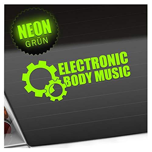 Elektronic Body Music - EBM Zahnrad 20 x 8 cm IN 15 FARBEN - Neon + Chrom! Sticker Aufkleber
