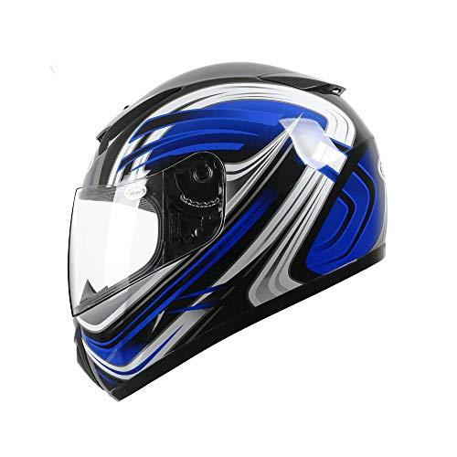 ZJRA Multi-Color Sicherheit Anti-Kollisions Erwachsener Jugend Moped Helm ATV...