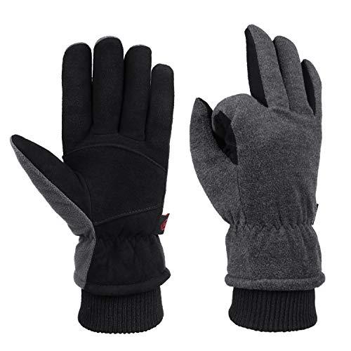 Winter Cold Weather Gloves Waterproof Genuine Deerskin Leather Cold Resistance -20℉