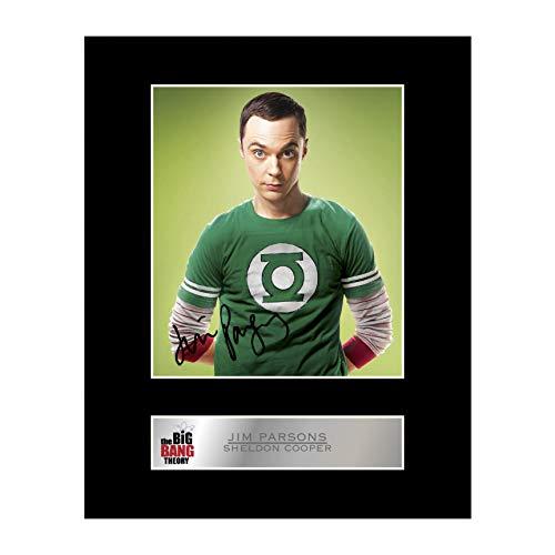 Fotodruck, Jim Parsons / Sheldon Cooper, aus The Big Bang Theory, handsigniert, mit Passepartout