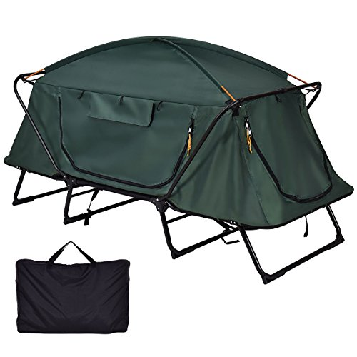 Heize best price Elevated Camping Tent Cot Waterproof Hiking Outdoor w Carry Bag - Folding 1 Person (U.S. Stock)