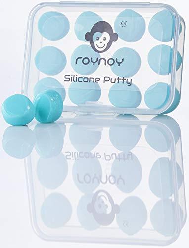 roynoy Kinder Silikon Ohrschutz Schwimmen Wasserfest und Wasserdicht, Mint, 12 x Ohrschutz