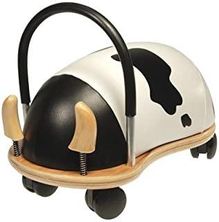 WE-R-KIDS Game / Play Prince Lionheart Wheely Bug - Small/Cow. Ride, Non-Toxic, Wooden, Colorful, Animals, Toy Toy / Child / Kid