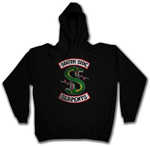 Urban Backwoods South Side Serpents Hoodie Sudadera con Capucha Sweatshirt Negro Talla S