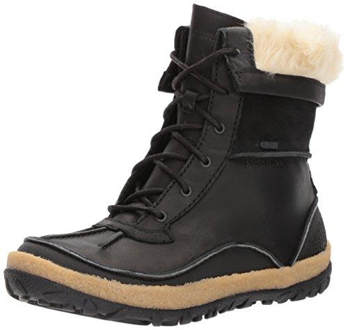 Merrell Damen Tremblant Mid Polar Waterproof Hohe Stiefel, Schwarz (Black Black), 40 EU