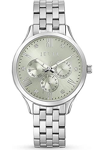 JETTE Damen-Uhren Analog Akku One Size Silber 32018374