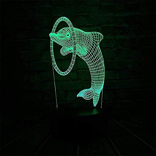 3D Luz De Noche Led Lámparas de decoración 3D illusion light para hombres, mujeres, niños, niñas, regalo Con interfaz USB, cambio de color colorido
